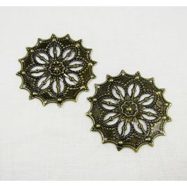 Openwork plate 34 mm, 10 pcs.
