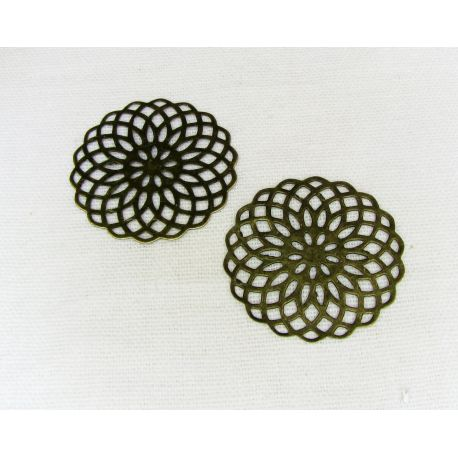 Openwork plate -for the manufacture of jewelry, bronze, 26 mm
