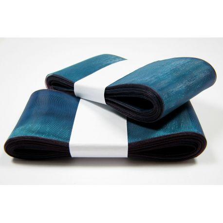 Organza strip, bluish with blue shade 40 mm wide