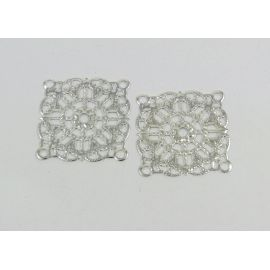 Openwork plate 23 mm, 10 pcs.