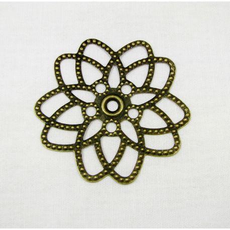 Openwork plate for jewellery, bronze, 60x58 mm