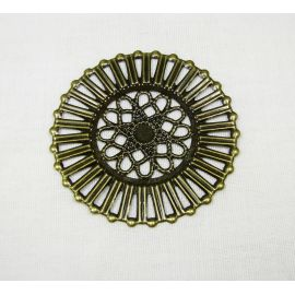 Openwork plate -for the manufacture of jewelry, bronze, 51 mm