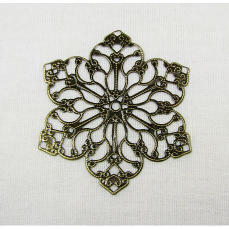 Openwork plate for jewelry making, bronze, 55mm