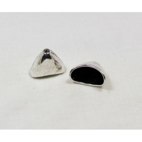 Hat for jewelry making aged silver color 20x16x12.5 mm