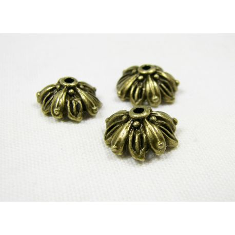 The hat is designed for the manufacture of jewelry bronze color 13x6 mm 10 pcs.