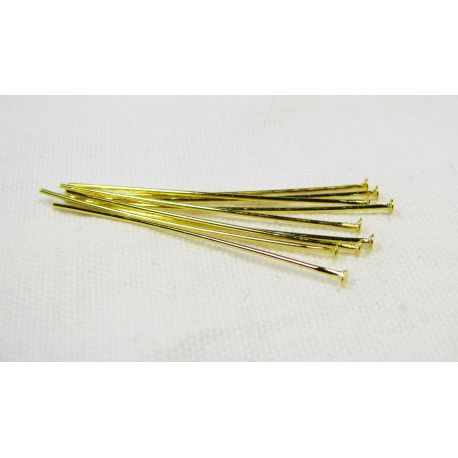 Brass pins, gold with flat head 35x0.6 mm 100 pcs.
