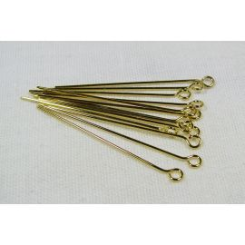 Brass pins 35x0.6 mm, ~100 pcs. (11,00 g)