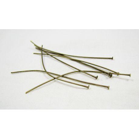 Brass pins, bronze with flat head 60x0.7 mm 100 pcs.
