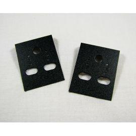 Карточка для серег черного цвета без надписей 40х30 мм, 10 шт.