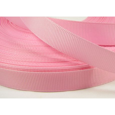 Satin ribbon, double side, light pink, 16 mm wide, 1 meter