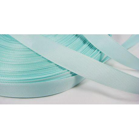 Satin ribbon, double side, light blue, 16 mm wide, 1 meter