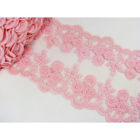 Openwork strip, pink, 100-1005 mm wide, 1 meter
