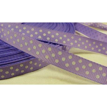 Satin ribbon, double side, lilac, 10 mm wide, 1 meter