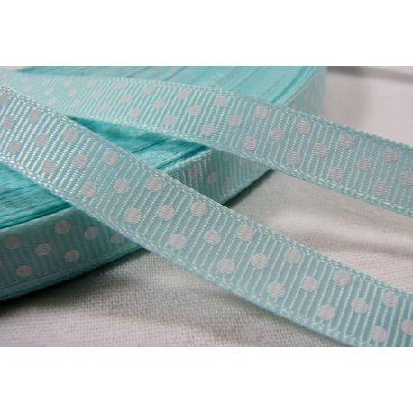 Satin ribbon, double side, light blue, 10 mm wide, 1 meter