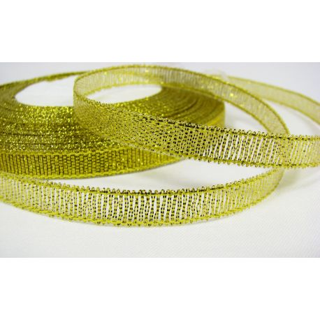 Glossy stripe, gold, double-sided, 6 mm wide, coil 22 m