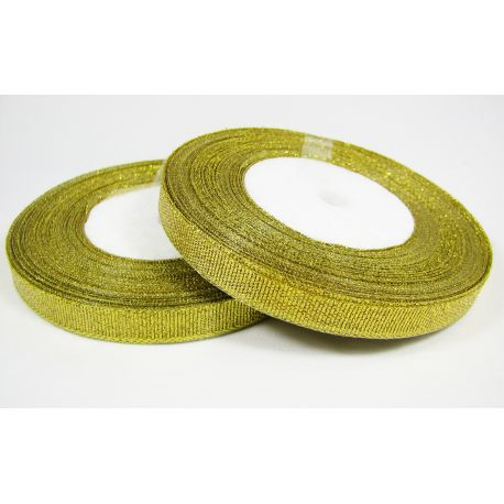 Glossy stripe, gold, double-sided, 10 mm wide, coil 22 m