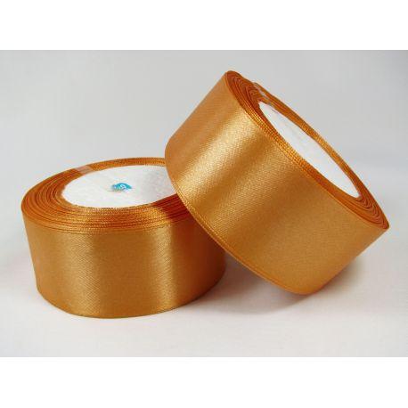 Satin ribbon, brownish-orange, 40 mm wide, 1 meter