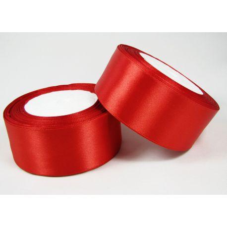 Satin ribbon, red, 40 mm wide, 1 meter