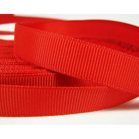 Grosgrain strip, double side, red, 12 mm wide, 1 meter