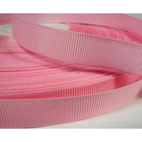 Grosgrain strip, double side, pink, 12 mm wide, 1 meter