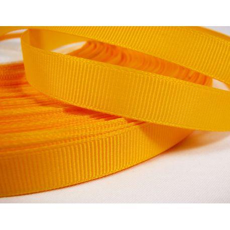 Grosgrain strip, double side, bright yellow, 12 mm wide, 1 meter
