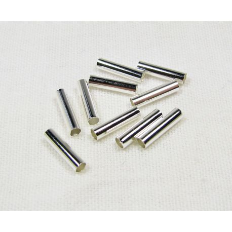Insert - tube for the manufacture of needlework, silver color, 100 pcs.