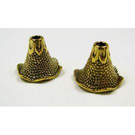 Krelles cepures 22x17 mm, 4 gab.