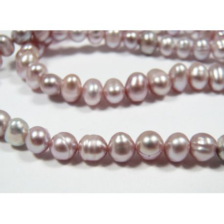 Freshwater pearls purple, round shape 4-5 mm