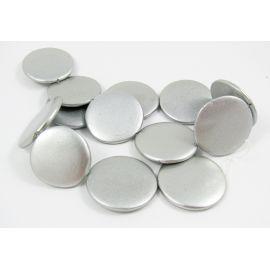 Perlų masės karoliukų gija, sidabro spalvos, monetos formos,30 mm