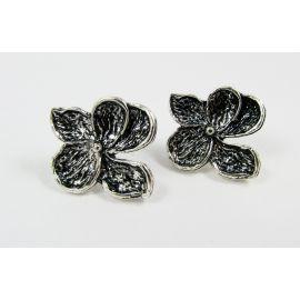 """Hooks for earrings """"Flower"""", 24x22 mm, 2 pairs"""