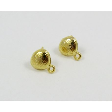 Hooks for earrings, gold color, size app about 10x9 mm 1 pair