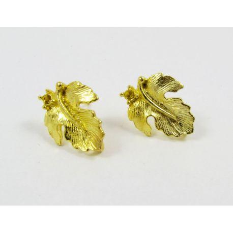 Kabliukai auskarams, aukso spalvos, dydis apie 16x13 mm 1 pora