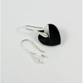 Серьги-крючки из латуни с кристаллами Swarovski 25x9 мм, 2 пары