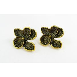 "Kabliukai auskarams ""Gėlytė"", 24x22 mm, 2 poros"