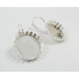 Žalvariniai kabliukai auskarams, pasidabruoti, 33x22 mm dydžio