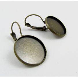 Messingist konksud kõrvarõngadele 20 mm, 3 paari