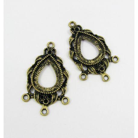 Jewellery distributor, aged bronze, 41x25 mm