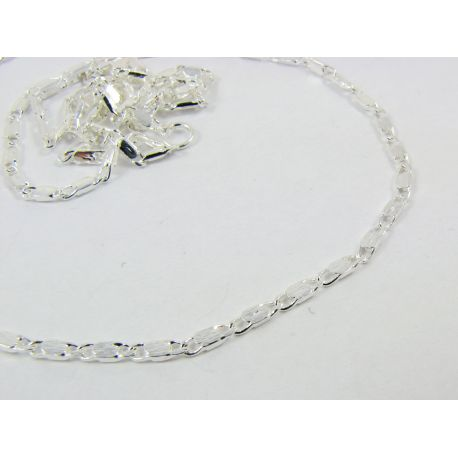 Chain with clasp, silver, length 1.8 mm 46 cm