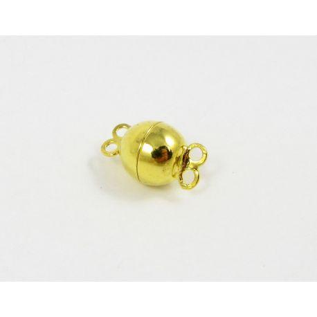 Magnetic necklace, gold, 10 mm, 1 pcs.