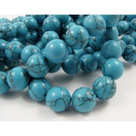 Synthetic turquoise beads 14 mm, 1 pcs.