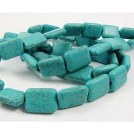Synthetic turquoise bead thread 16x12 mm