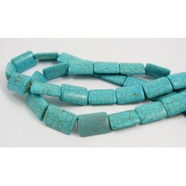 Synthetic turquoise bead thread 25x18 mm