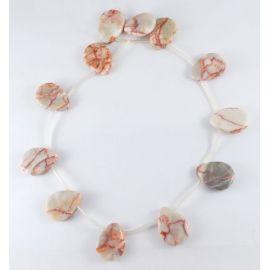 Natural Jaspio bead thread 24x18 mm