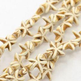 Sintetinio turkio žvaigždučių gija, smėlio spalvos, dydis 15x15 mm