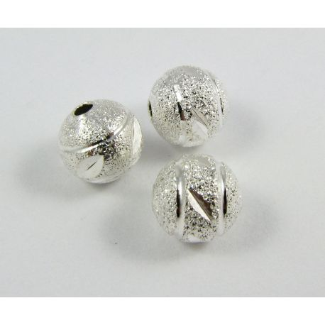 Insert silver color, round shape, size 8 mm, 1 pcs