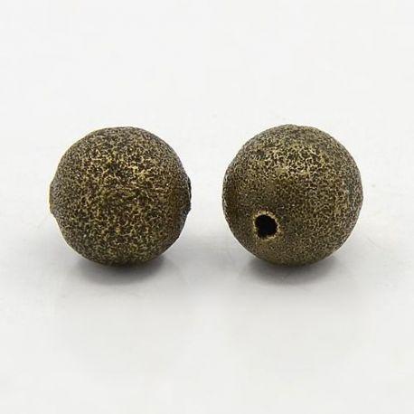 Brass insert aged bronze, size 12 mm, 6 pcs