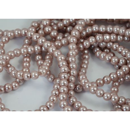 Glass pearl thread, lilac colours, size 6 mm
