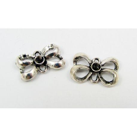 "Pendant ""Ribbon"", aged silver 21x14 mm"