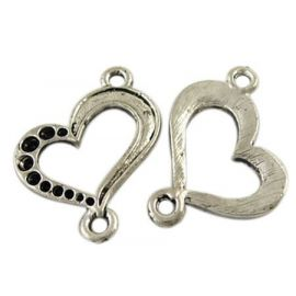 "Links connectors ""Heart"" 21x19 mm, 1 pcs."