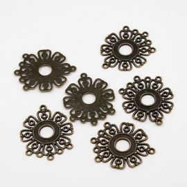"Links connectors ""Flower"" 36x29 mm, 1 pcs."